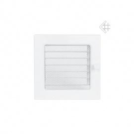 Kratki Krbová mřížka bílá 17x17cm se žaluzií - výprodej