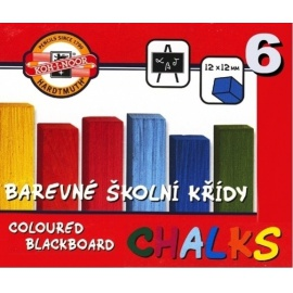 Školní křídy barevné